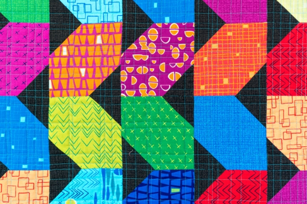 Random crosshatch quilting