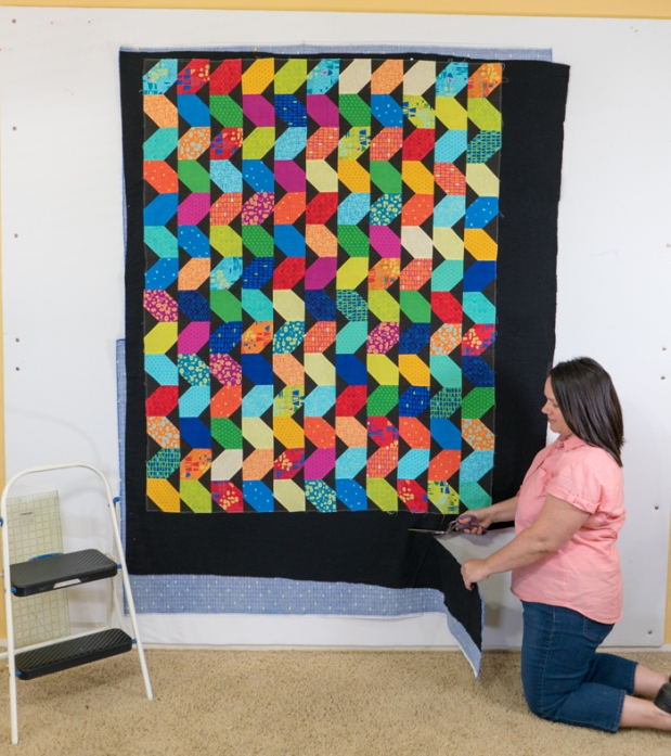 Spray basting a quilt by Christa Quilts