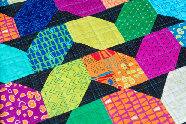 Machine Quilting Random Crosshatch
