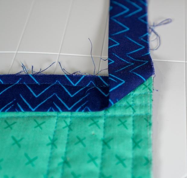 Folding the binding corner