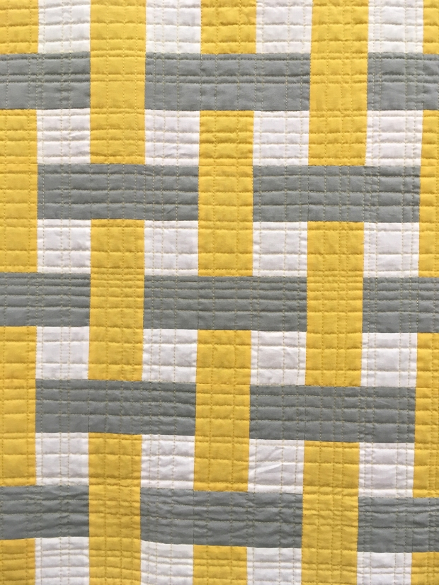 Color Weave Straight Line Quilting Detail