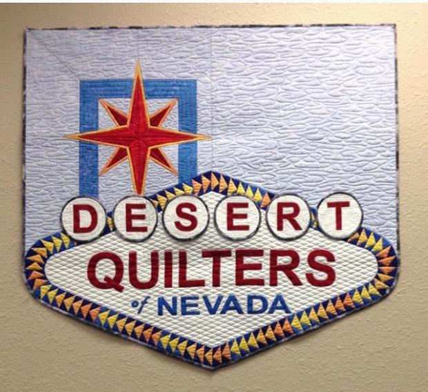 DQN Quilted banner by Karen Garth