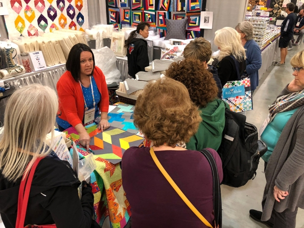 Quilting Demo with Hobbs Batting
