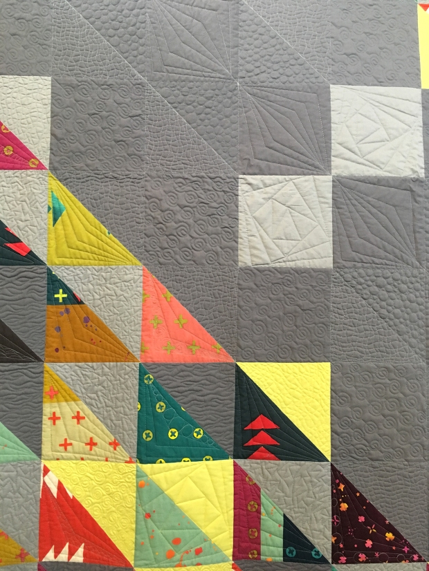 Quilting on HST Remix