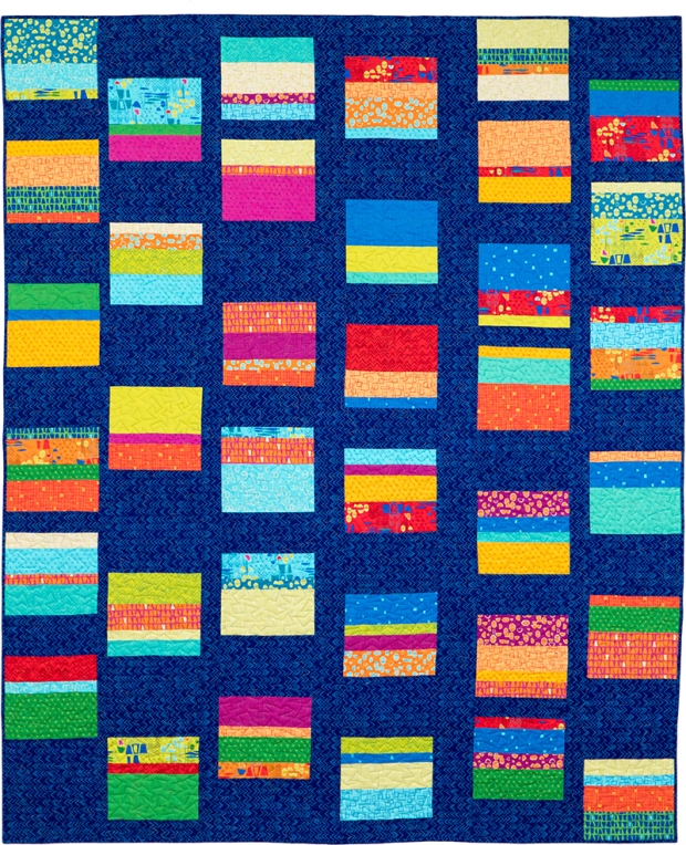Improv Squares Quilt Using Modern Marks