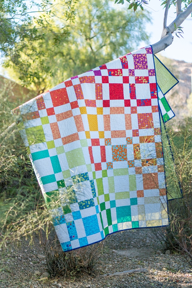 Rainbow Taffy Quilt by Christa Watson. Made from Modern Marks.