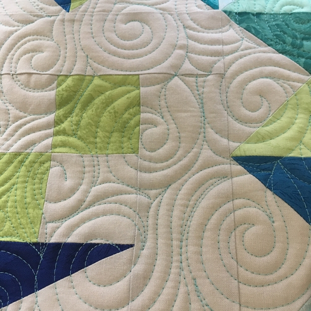 Machine Quilting Elongated Swirls