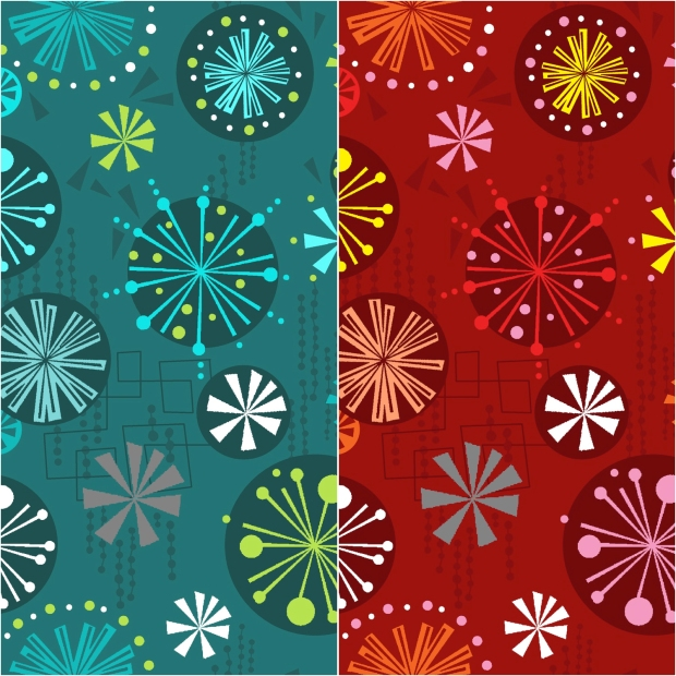 Fandangle Fabric, Baubles and Bits print