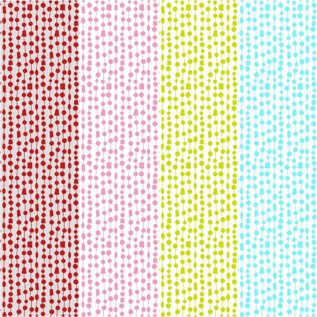 Fandangle fabric - Beaded Curtain