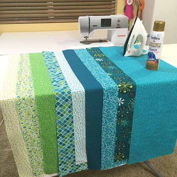 Fandangle Fabrics Cool Colorway