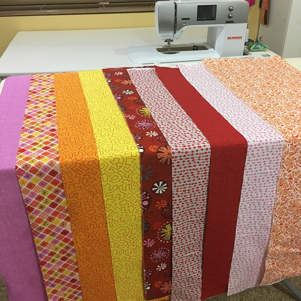 Fandangle Fabrics Warm Colorway