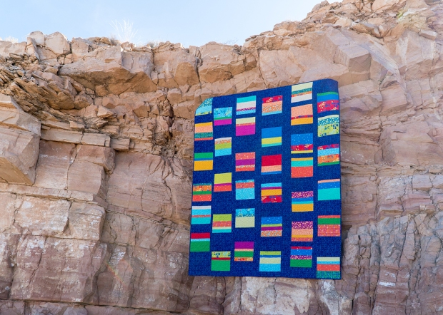 Improv Squares Quilt Pattern using Modern Marks Fabric