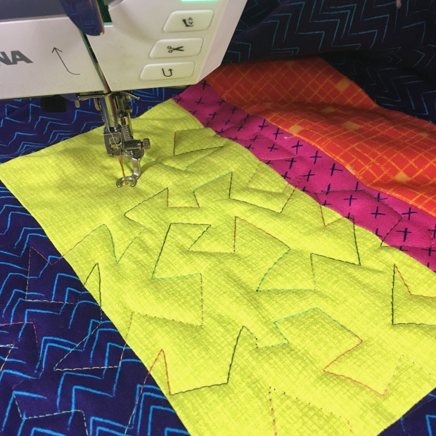 Machine Quilting Jagged Stipple