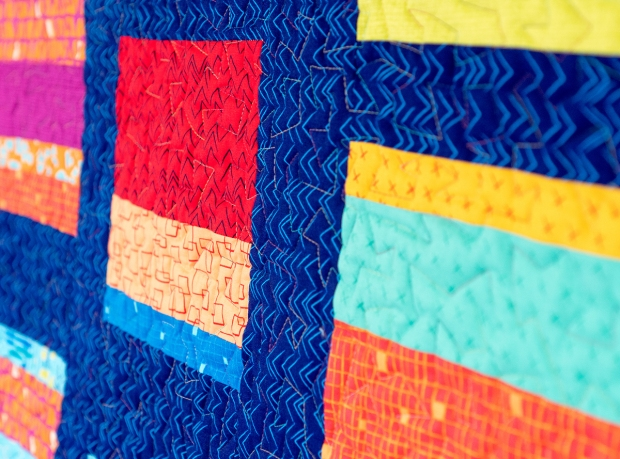 Improv Squares quilt
