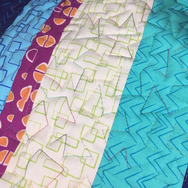 Jagged stipple quilting