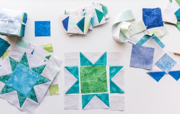 Sawtooth Star Block Piecing