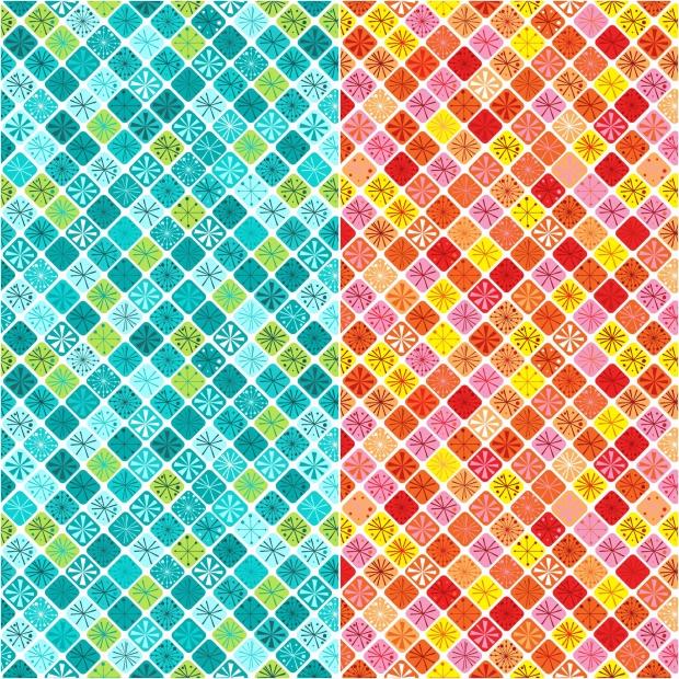 Fandangle fabric - Sparkling Squares