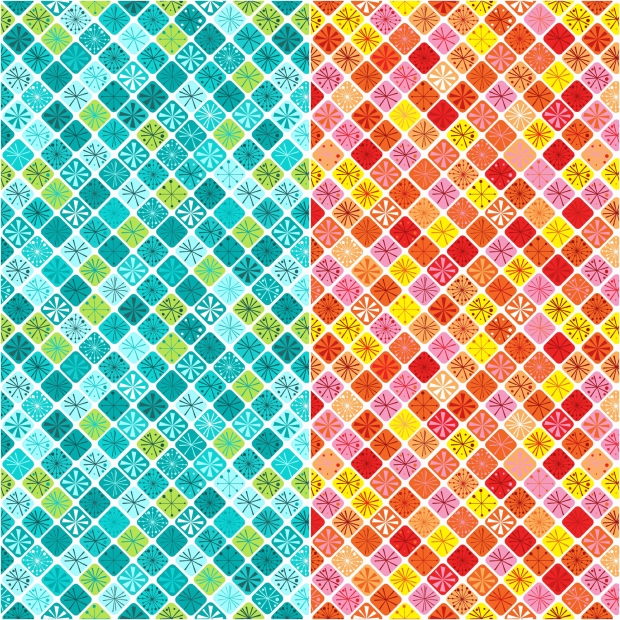 Fandangle fabric - Sparkling Squares