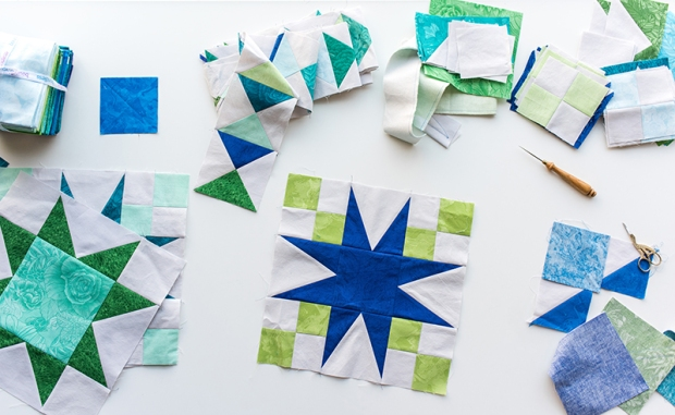 Starry Path Quilt Blocks