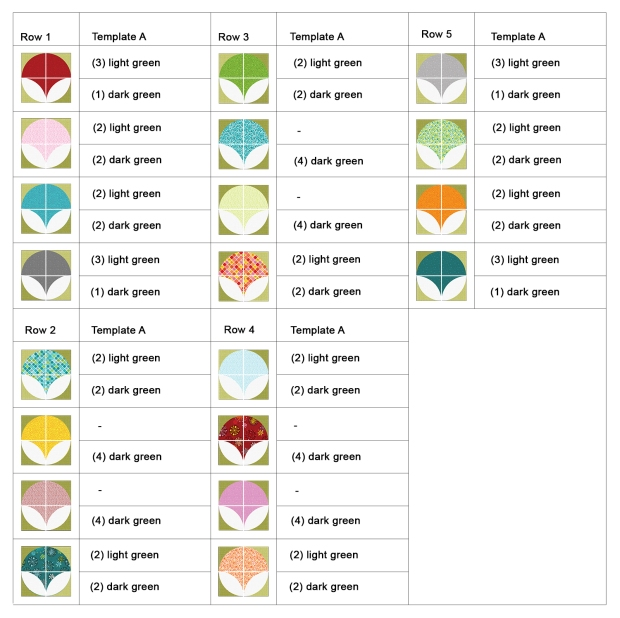 Pearl Pendants Chart of Blocks