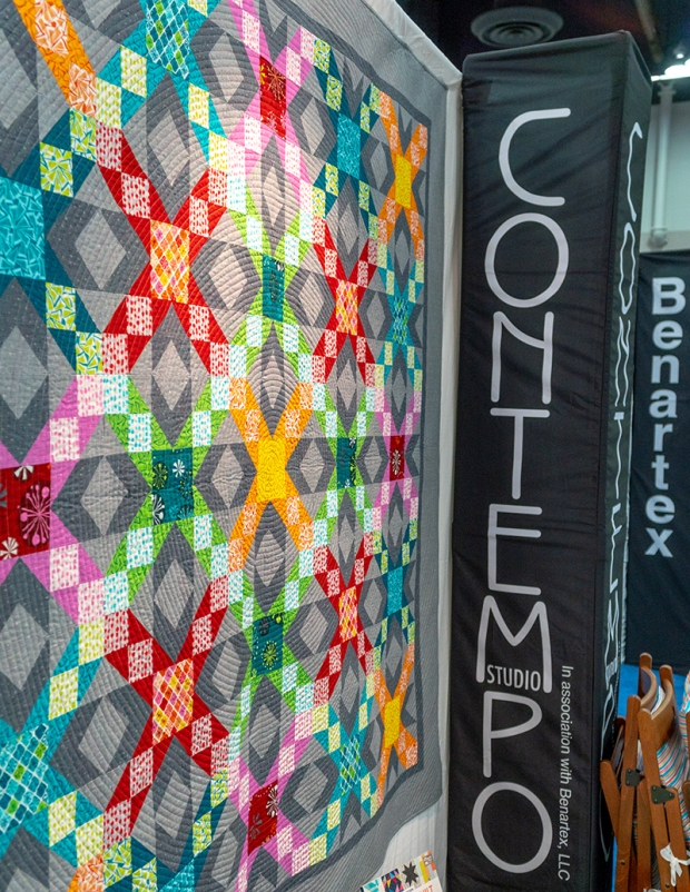 Sparkling Stars in the Benartex Contempo Booth at Quilt Market