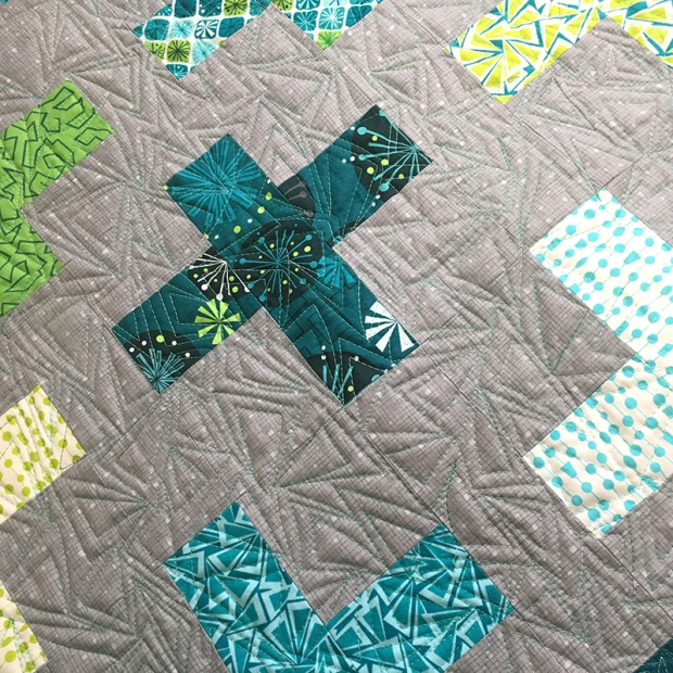 Free Motion Quilting Triangles