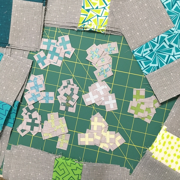 Surplus Strips Blocks in Cool Fandangle