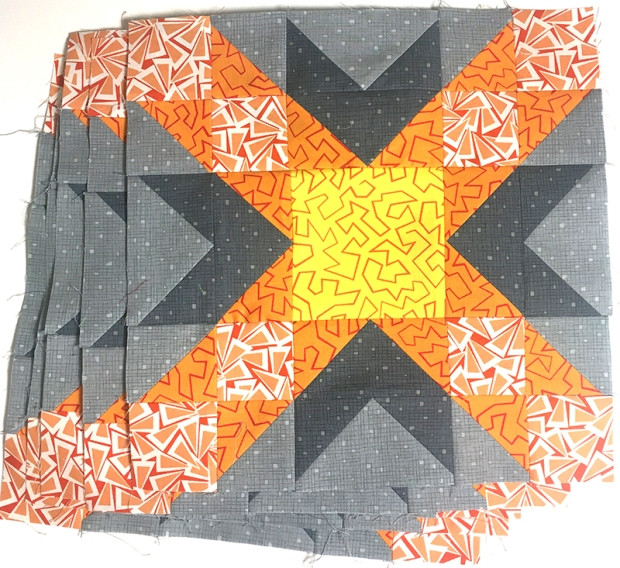 Sparkling Stars Blocks in Orange