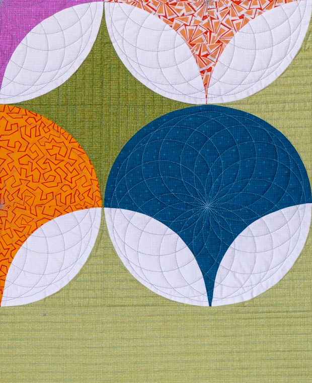Quilting Detail for Pearl Pendants