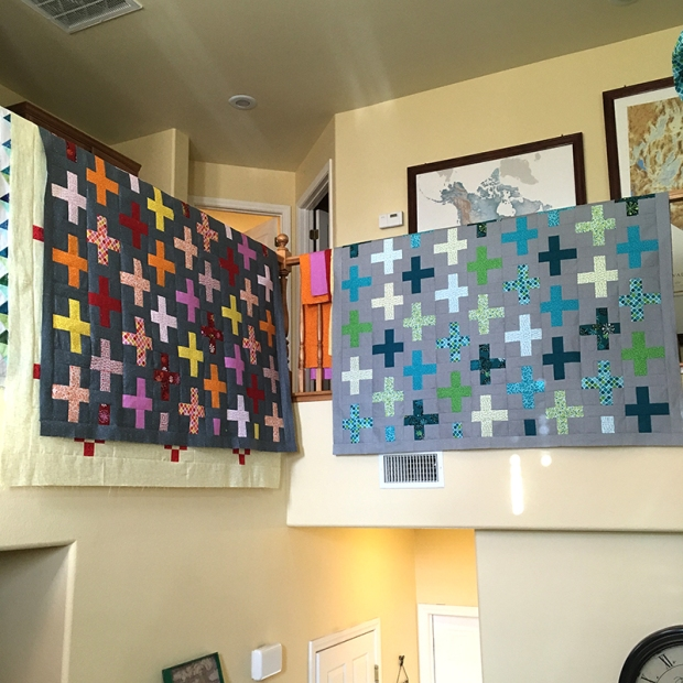 Surplus Strips Quilt Tops Warm and Cool