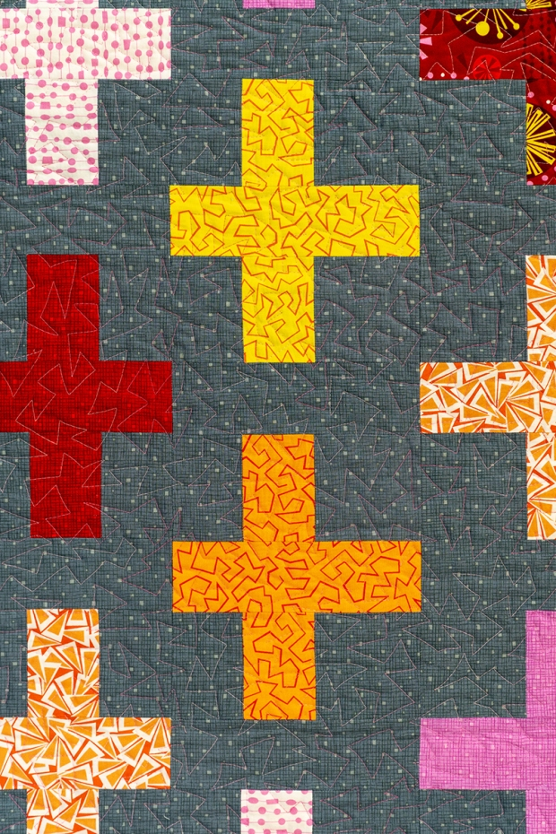 Machine Quilting Detail