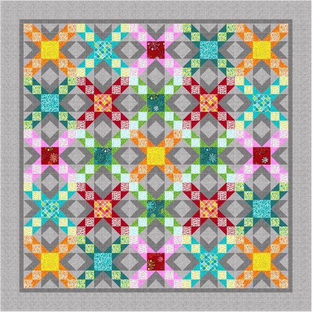 Sparkling Stars Quilt Design