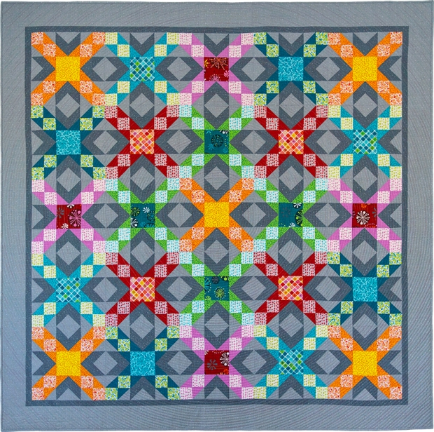 Sparkling Stars quilt by Christa Watson made from Fandangle fabric