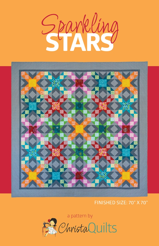 Sparkling Stars Quilt Pattern by Christa Quilts