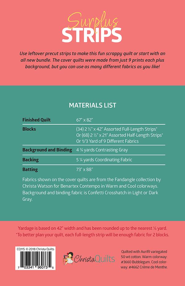Surplus Strips Materials List
