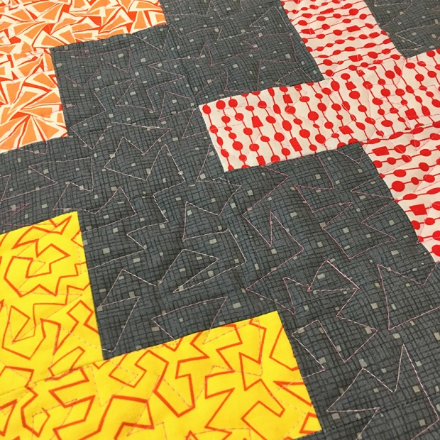 Free Motion Quilting Jagged Stipple