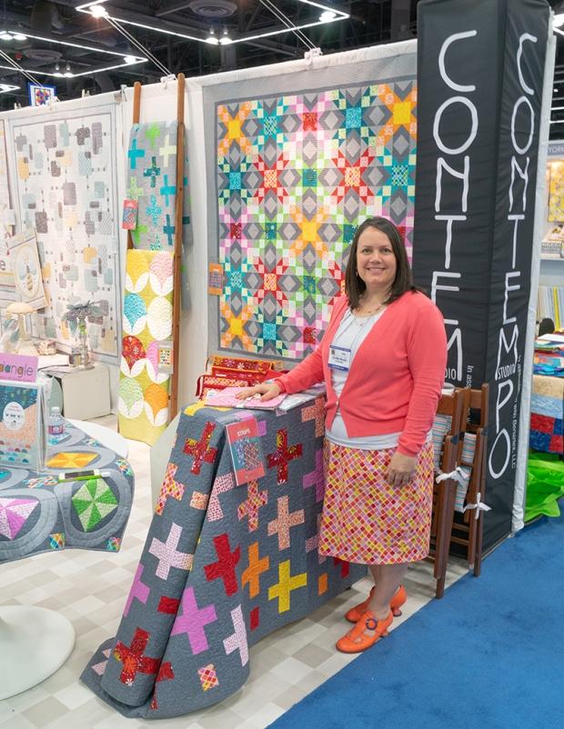 Christa Watson Contempo booth Quilt Market 2018
