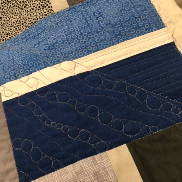 custom quilting on stepping stones