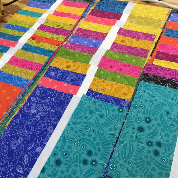 Fabric Cutting for Stepping Stones Quilt