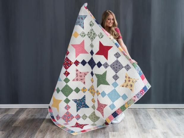 Friendship Stars Quilt by Christa Watson