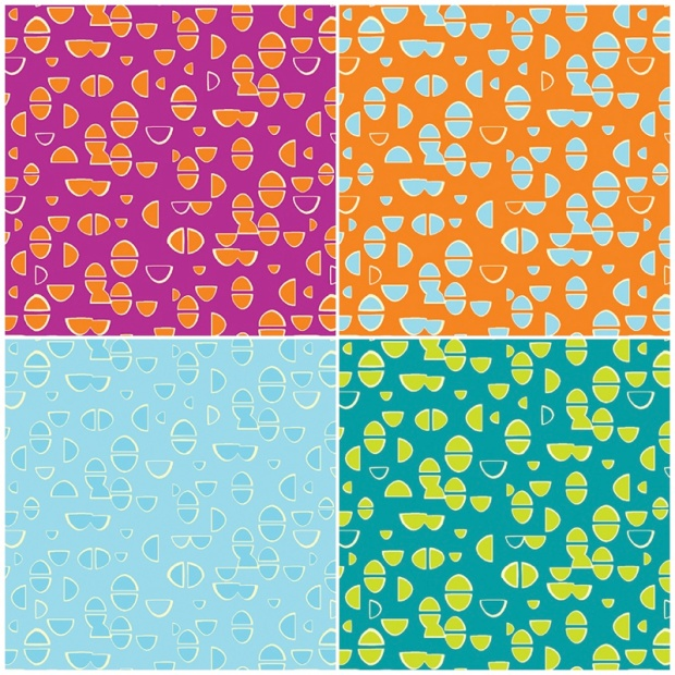 Modern Marks Fabrics Half Ovals Print by Christa Watson