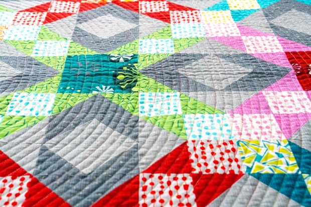 Walking foot quilting large spiral
