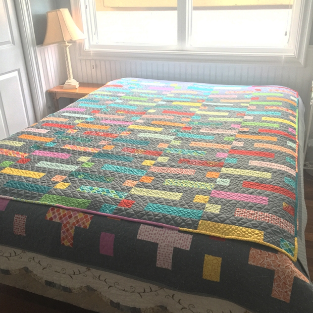 Quilts on the bed at the beach