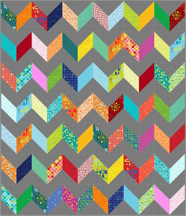 Charming Chevrons Quilt pattern with Christa Watson Fabric