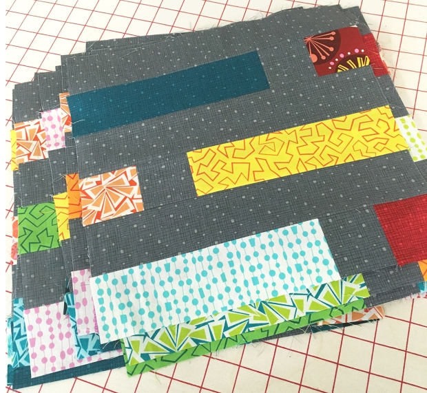 Finished Dot n Dash Quilt Blocks