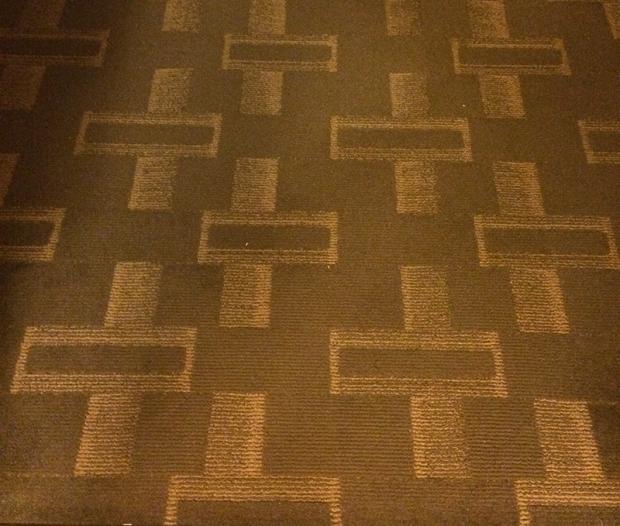 Inspiration for my desing - hotel carpet