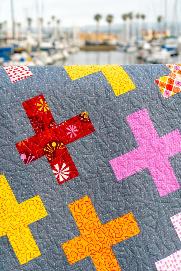 Free Motion Quilting on Surplus Strips Warm