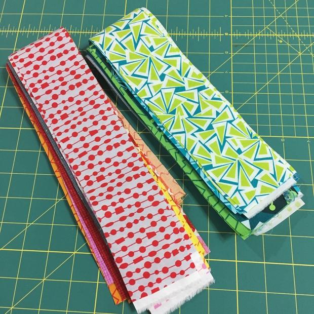 Strips of Fandangle Fabric