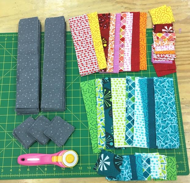 Fandangle fabric subcut units for Dot 'n Dash qal