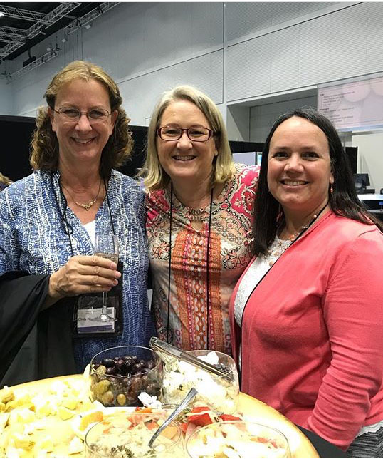 Cindy Needham, Helen Stubbings and Christa Watson at AMQF